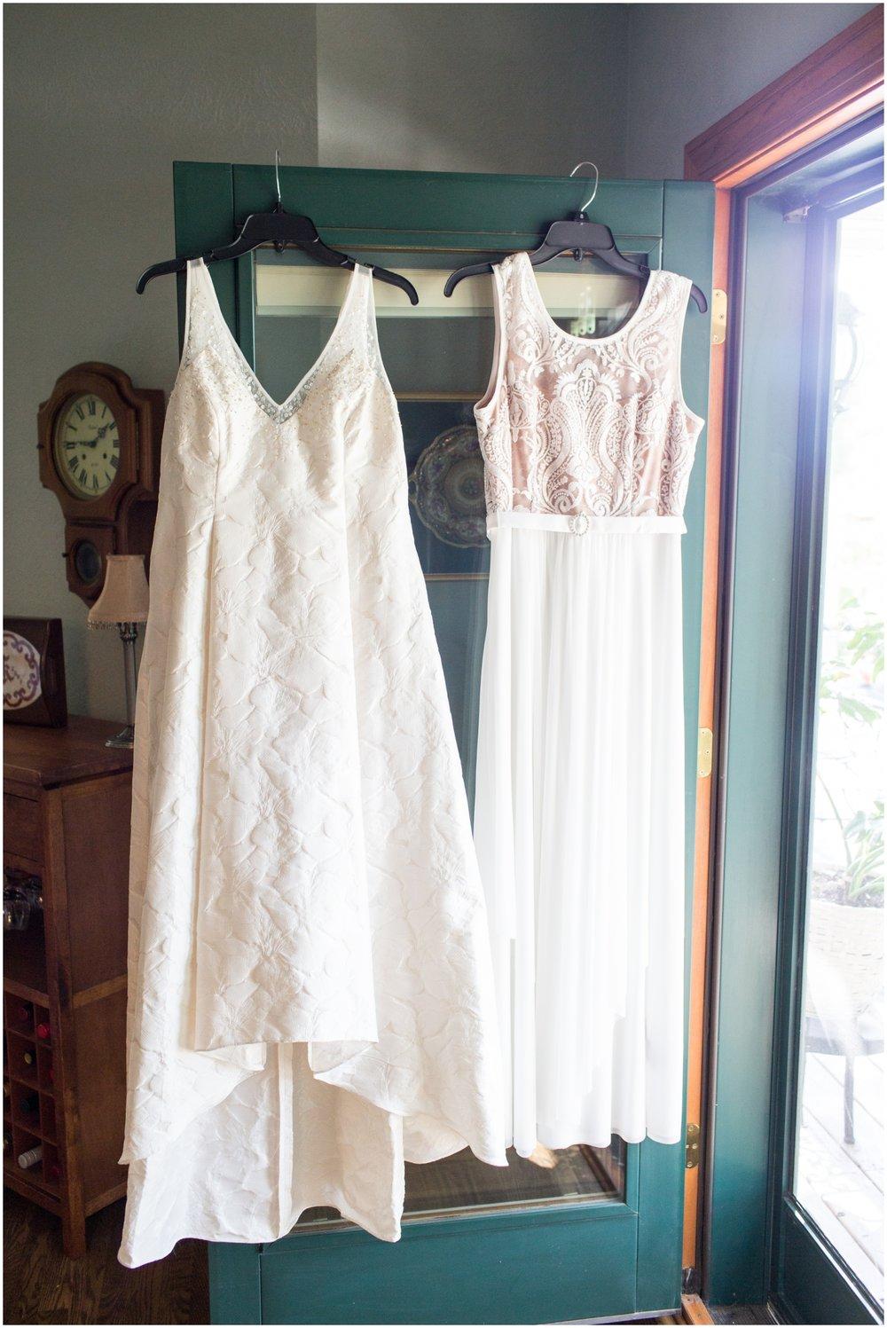 Wedding dresses of the brides