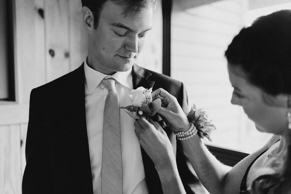 Groom before his wedding