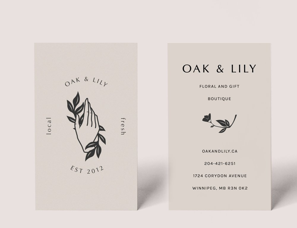 Oak & Lily - Branding