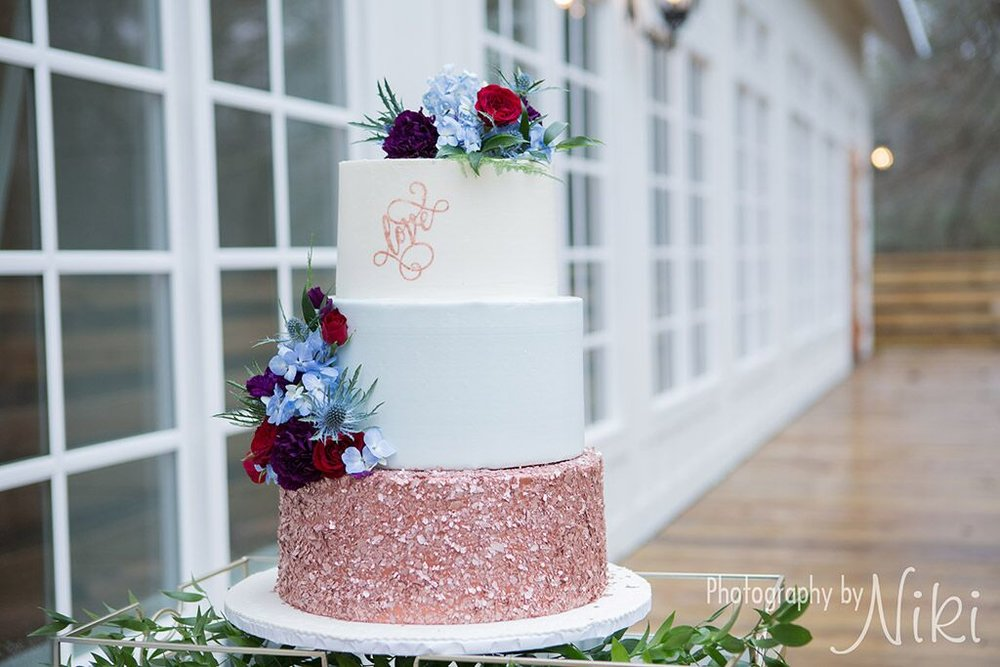 rose gold confetti wedding cake Desserts By Holly.jpeg