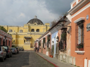 Typical Antigua street view