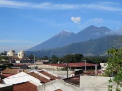 Volcano as seen in Antigua