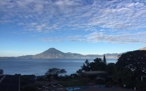 View of Lake Atitlan from Hotel Del Lago (photo courtesy of Michael Graham)