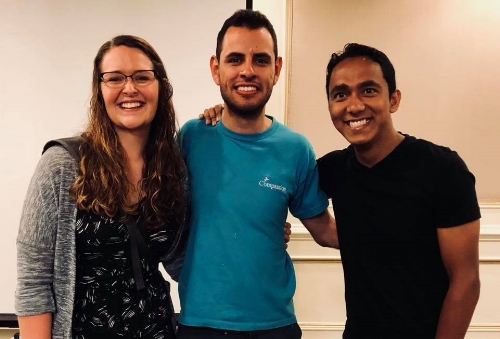 Emily, David, a local Compassion facilitator, and Sandeep