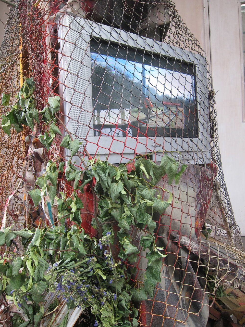 Vandal Safari 002 (detail).    Mixed media.   Dimensions variable.   Liminal  at The Ragged School Museum, London 2015.