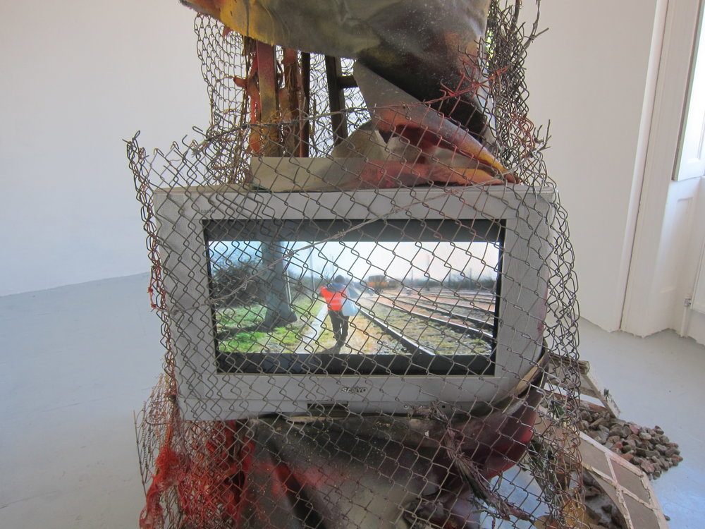 Vandal Safari 001 (detail).    Mixed media.   Dimensions variable.  2015.