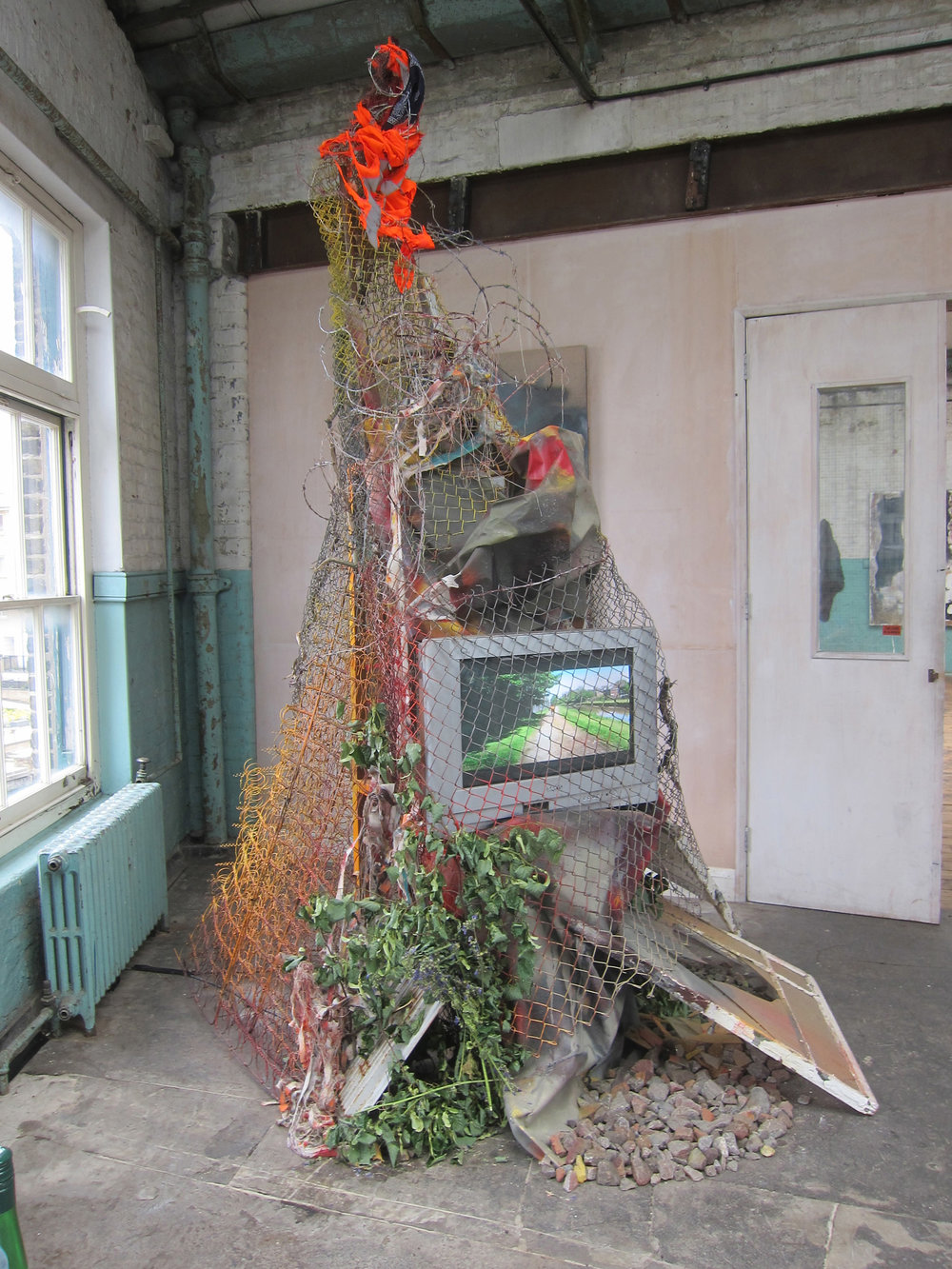 Vandal Safari 002.    Mixed media.   Dimensions variable.   Liminal  at The Ragged School Museum, London 2015.