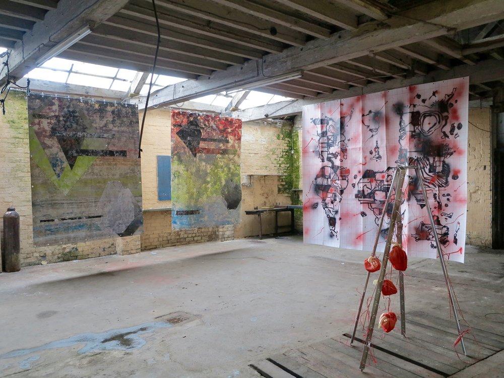 Exhibition view at Hack Morecambe,  alongside Egs and Taehoon Yangah.  Morecambe, Lancashire 2018.