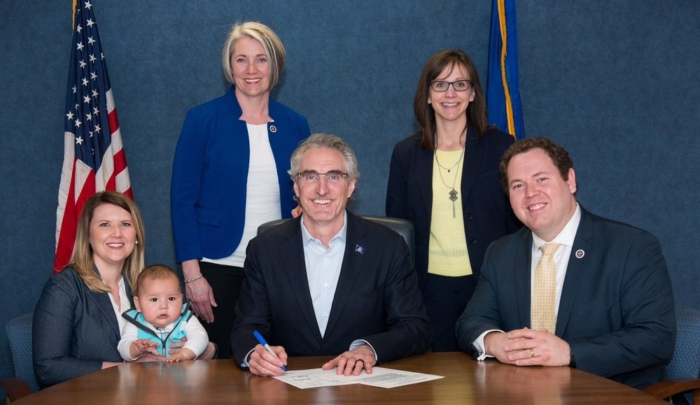 I was proud to help make the adoption process in our state easier for families. My son Evin was part of the bill signing ceremony, along with Gov. Doug Burgum and my Republican and Democrat co-sponsors.