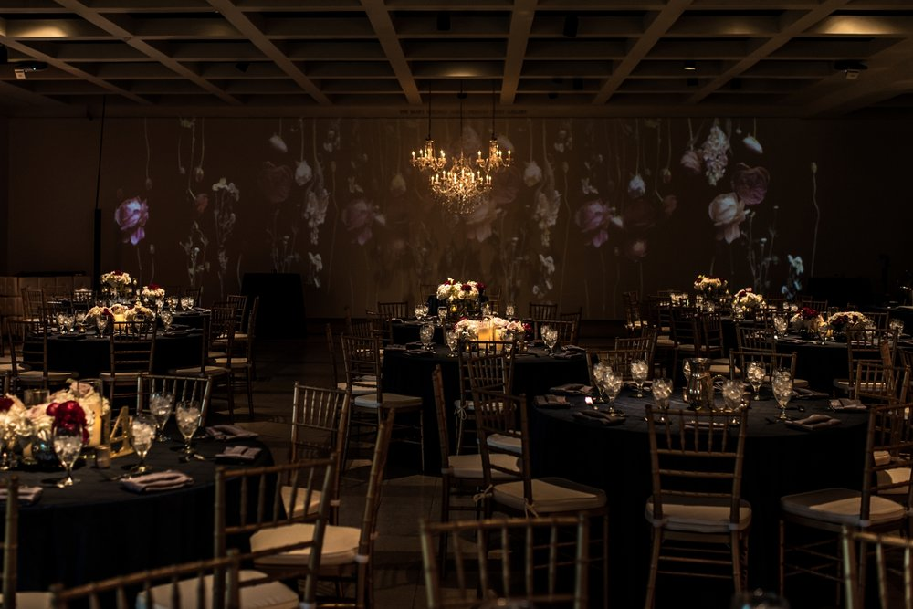 Photo:  J'Adore Studios / The Cummer Museum/ G.G. Events/ Environmental Projection by DJ Jacob and Co/ Florals by Parker's Events/Chef's Garden