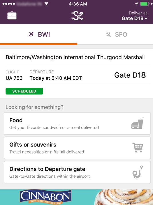 Gate food delivery app