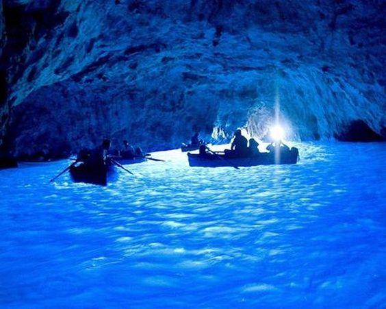 Exploring the Blue Grotto in Capri