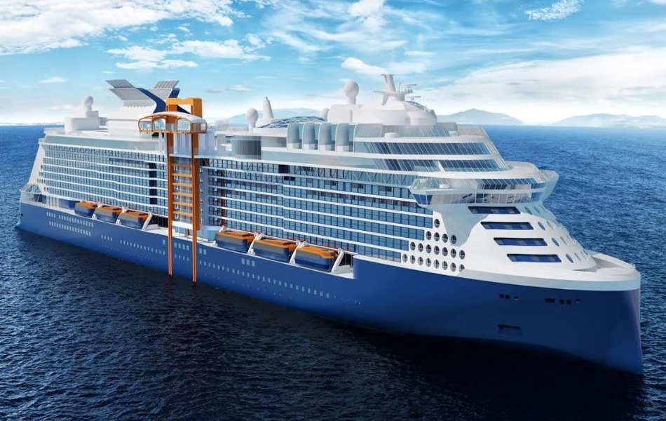 Celebrity Edge - Edge will debut in December, 2018 and carrying 2900 passengers, Edge will feature several innovations for the cruise line and for the greater cruise industry. Among the first-at-sea inventions will be a moveable deck and cabins with