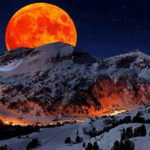 Moon over Alaska