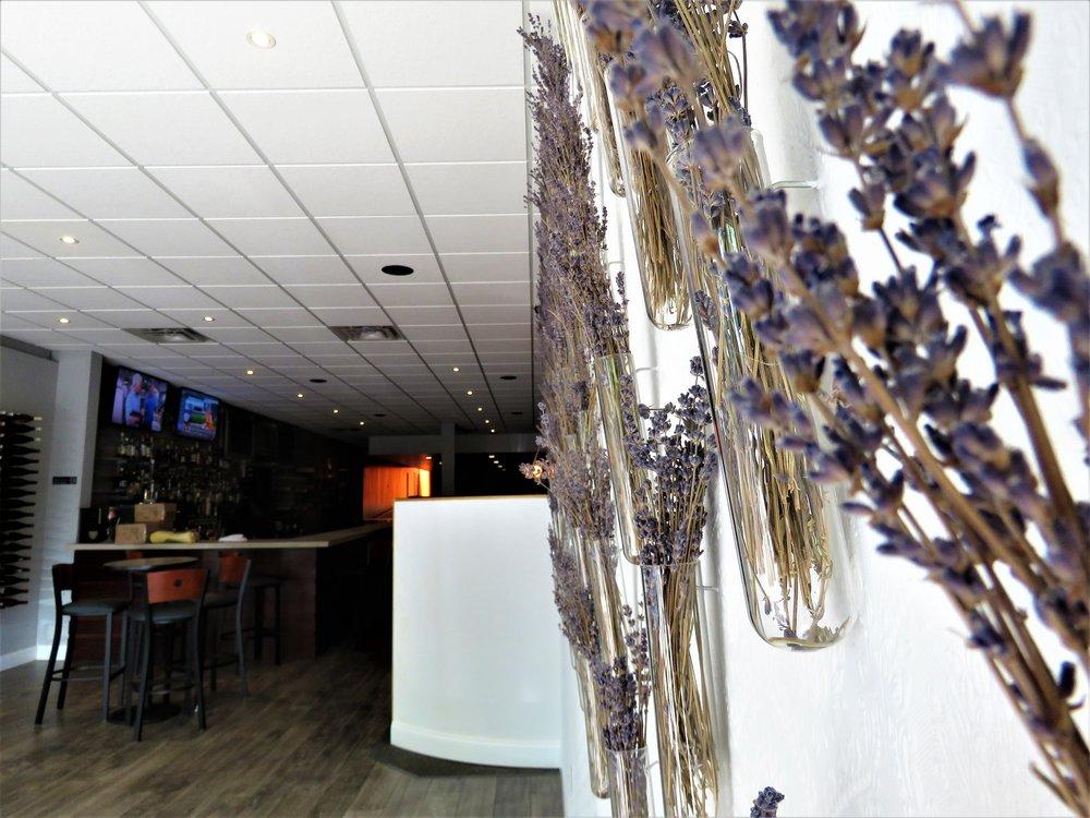 Grazie! Italiano Lavender Wall 2.JPG
