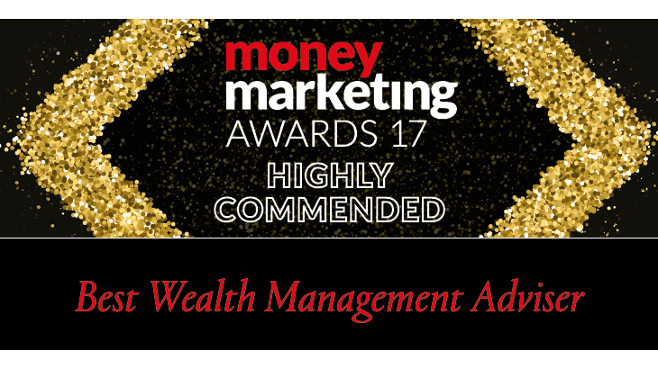 Money Marketing Awards 2017 Best Wealth Management Adviser - Highly Commended