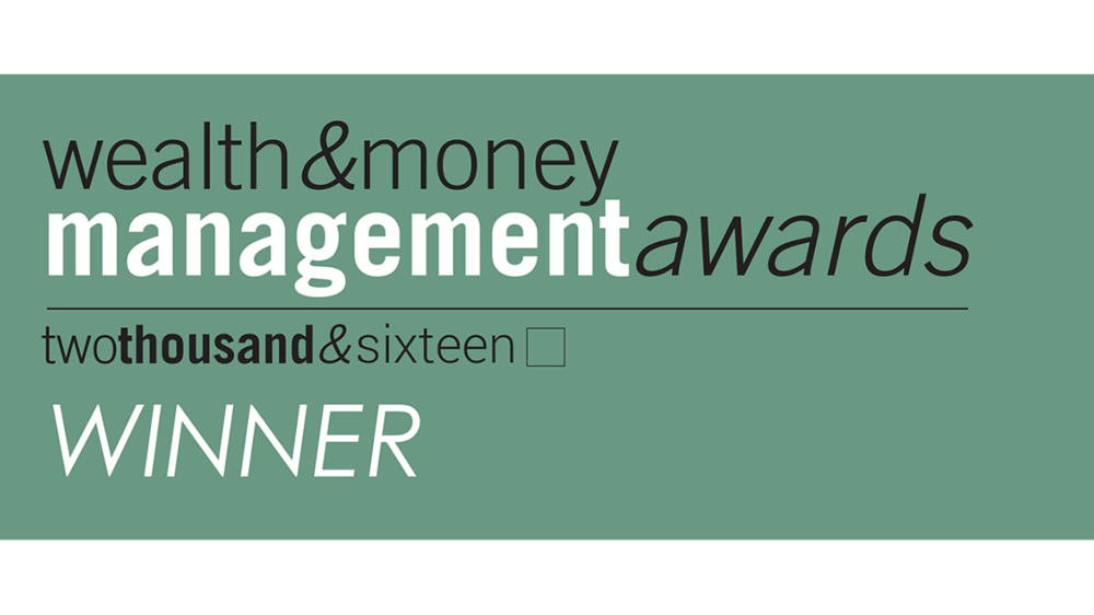 Wealth & Money Management Award 2016 Best UK Boutique Investment Manager