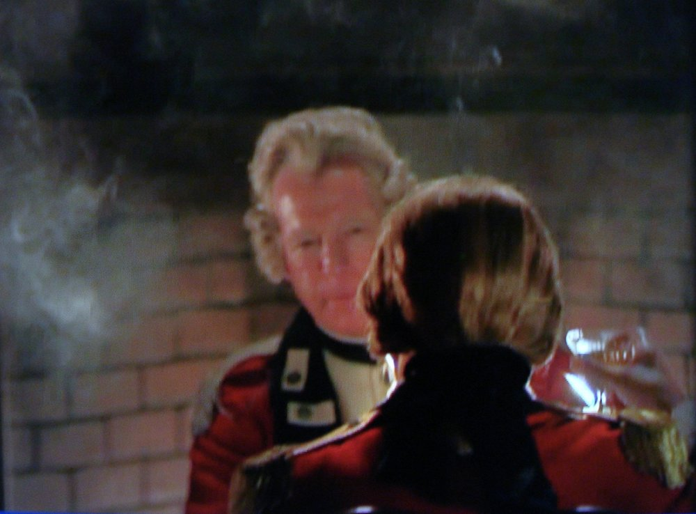 Richard Amott (facing camera), British Officer, Season 4, Episode 1, TURN:Washington's Spies