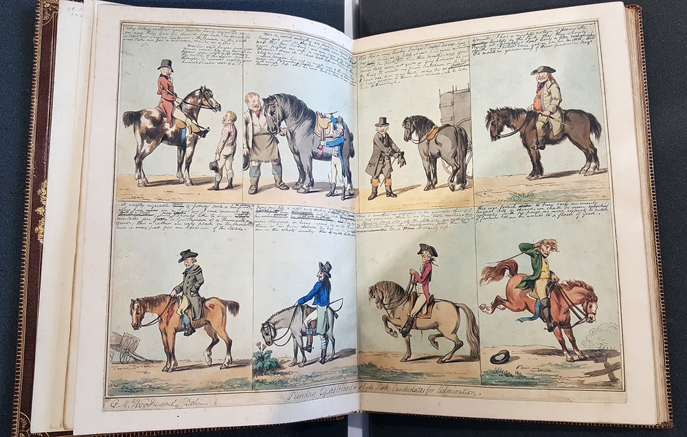 G. N. Woodward + Isaac Cruickshank (1792),  Original Caricature Water-color Sketches , RISD Museum, D-2 48.110.1-63a,b,c,d