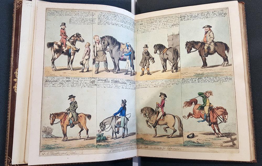 G. N. Woodward + Isaac Cruickshank (1792),  Original Caricature Water-color Sketches , RISD Museum, D-2 48.110.1-63a,b,c,d