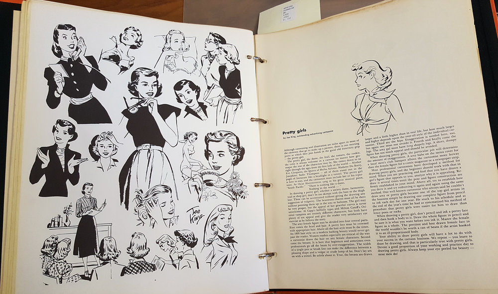 Famous Artists Cartoon Course  (1956), RISD Fleet Library, SPECIAL OVERSIZE NC 1320 .F22 v. [1]