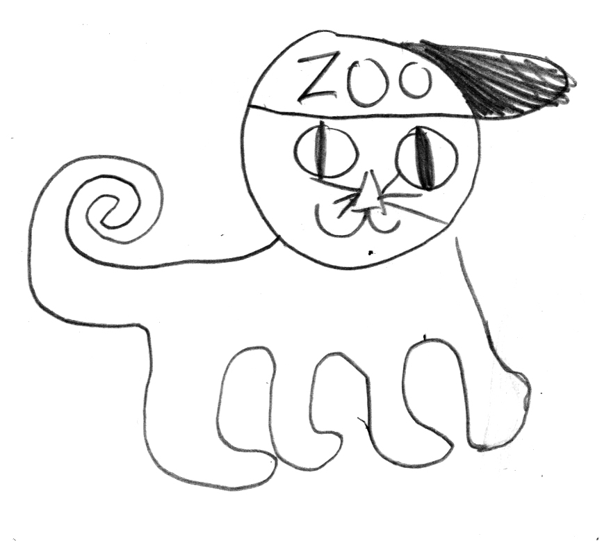 Tiger Zookeeper by an elementary student.