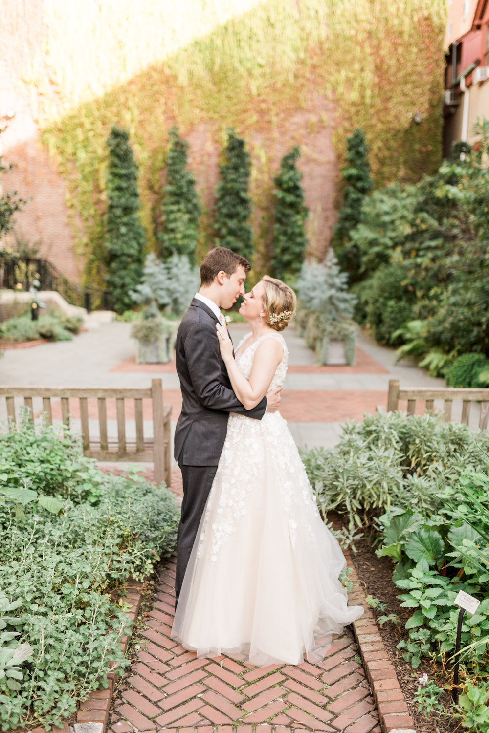 Blush, white, and gold accent this darling College of Physicians wedding in Philadelphia, Pennsylvania.