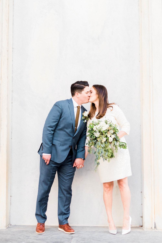 Classic and intimate city hall elopement in Philadelphia, Pennsylvania