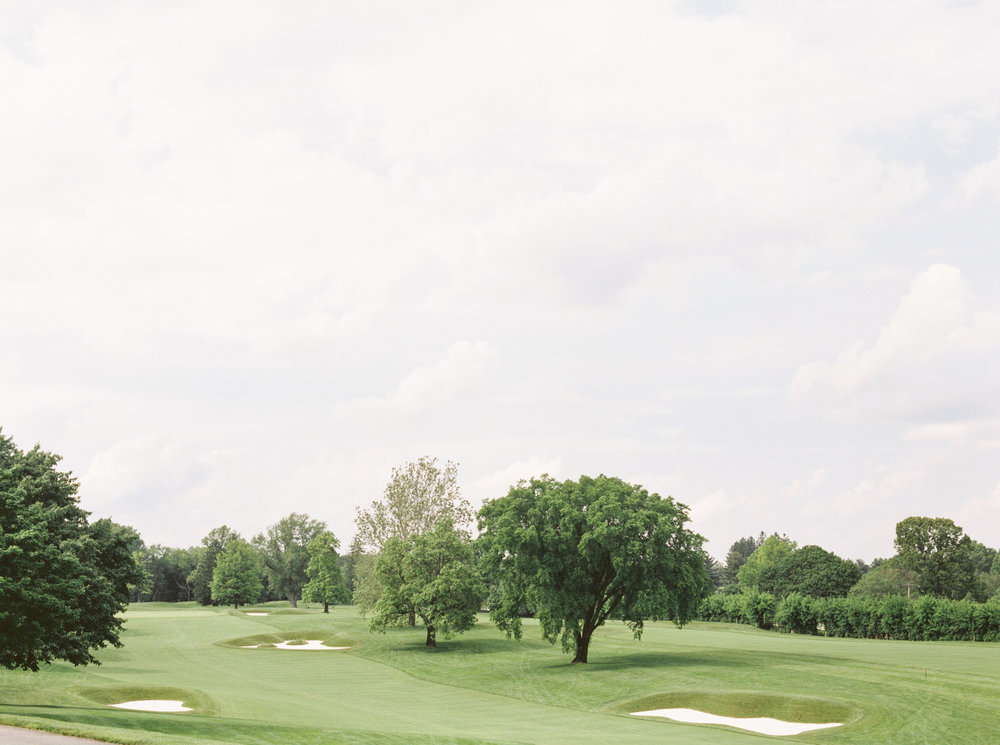 The picturesque green from the beautiful landscape at the Baltimore Country Club.