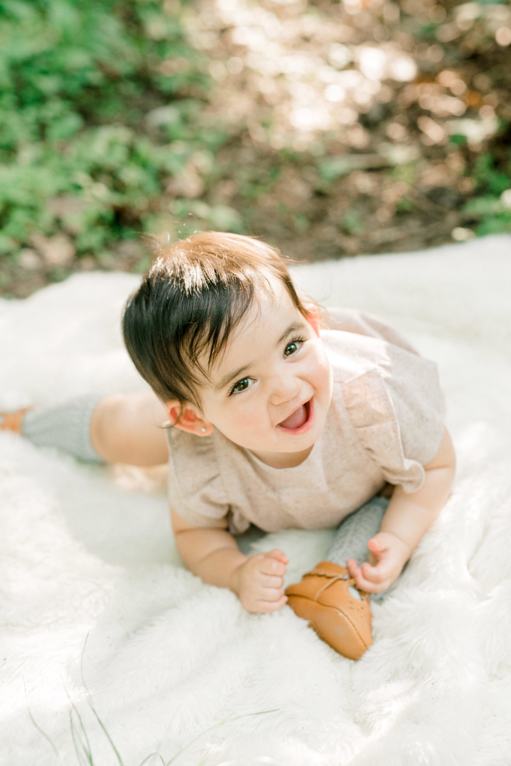 Happy baby family portrait session in Philadelphia, Pennsylvania