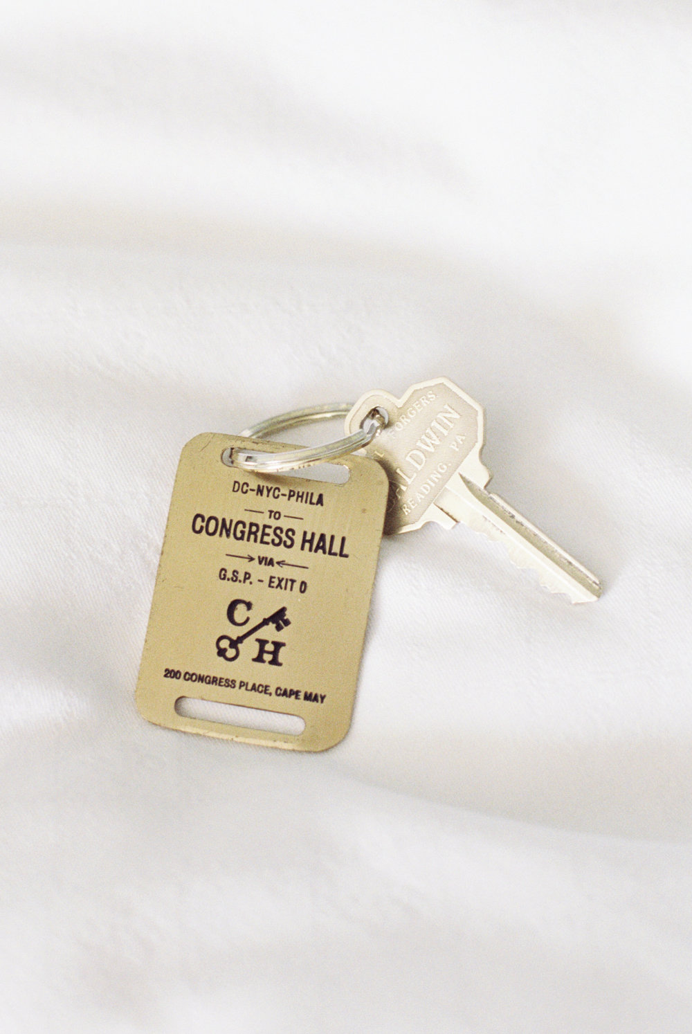 Branding photography for your business. Hotel key from Congress Hall in Cape May, New Jersey