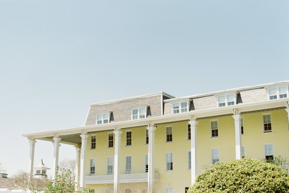 A shot of the beautiful Congress Hall building from our super fun and intimate summer beach elopement inspiration shoot.