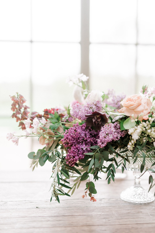 haley-richter-photography-jardin-de-buis-wedding-photos-greenhouse-wedding-bhldn-gown-lilac-wedding-bouquet-beaded-wedding-gown-new-jersey-weddings-garden-wedding-purple-lavender-centerpeice-european-inspiration-flowers