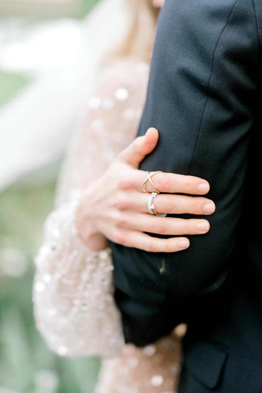 haley-richter-photography-jardin-de-buis-wedding-photos-greenhouse-wedding-bhldn-gown-lilac-wedding-bouquet-beaded-wedding-gown-new-jersey-weddings-garden-wedding-unique-wedding-rings