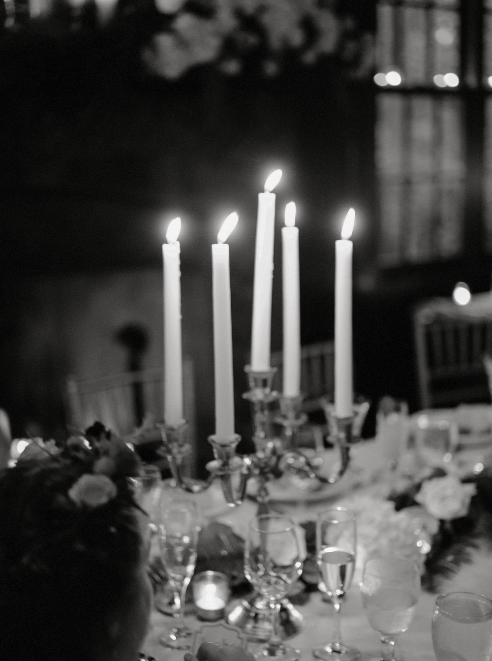 We adore this romantic candlelit reception at Hotel du Village.