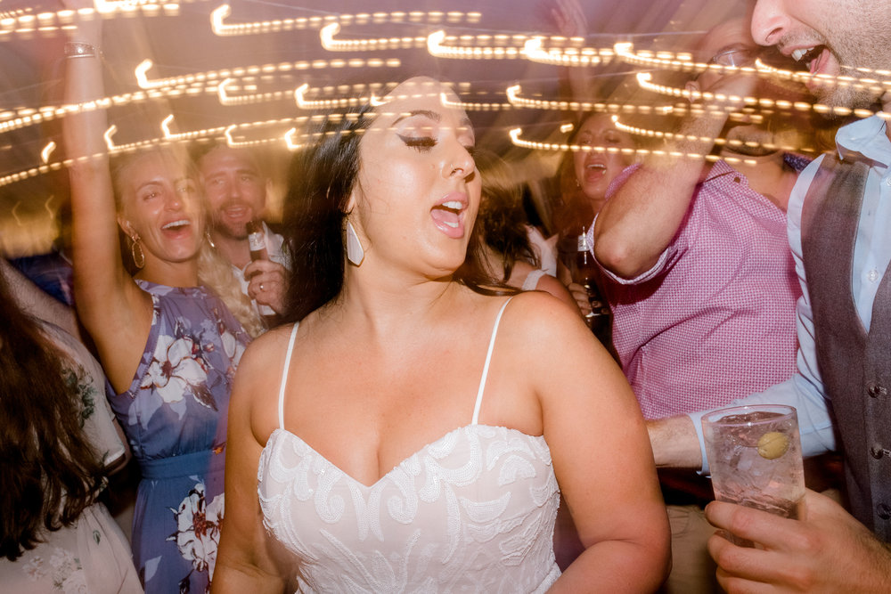 This bride danced the night away at her bright boho chic Tyler Gardens wedding in Bucks County