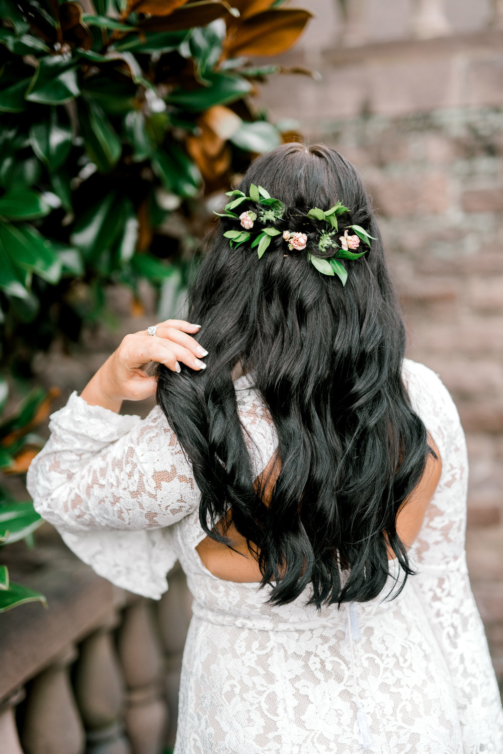 Flowers in her hair, it's like a hippy fairytale dream come true from this bright boho chic Tyler Gardens wedding in Bucks County