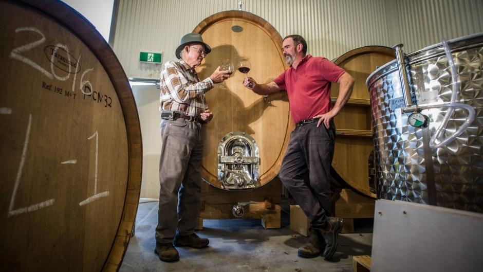 John Kirk and son Tim of Clonakilla wines.Photo: Karleen Minney