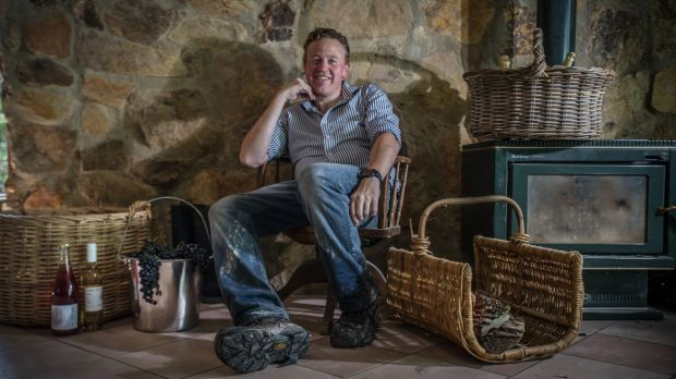Chris Carpenter is following in the footsteps of his parents Sue and Dave, who started Lark Hill Winery. Photo: Karleen Minney
