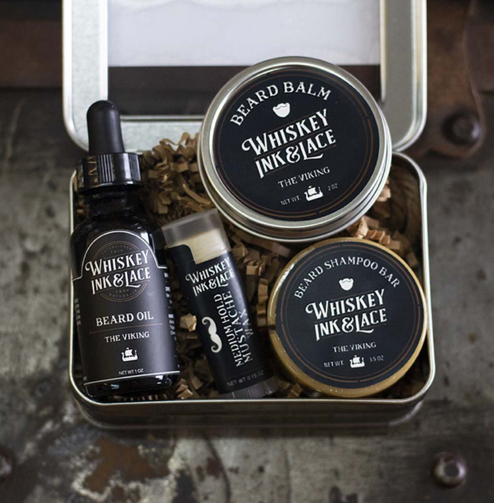 Whiskey Ink & Lace - The Viking Beard Deluxe Kit - $48