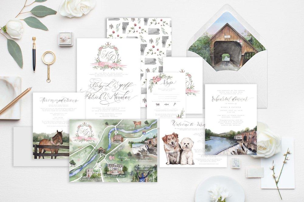 cami-monet-custom-watercolor-wedding-invitation-farm-wedding-watercolor-venue-watercolor-map-watercolor-crest.jpg