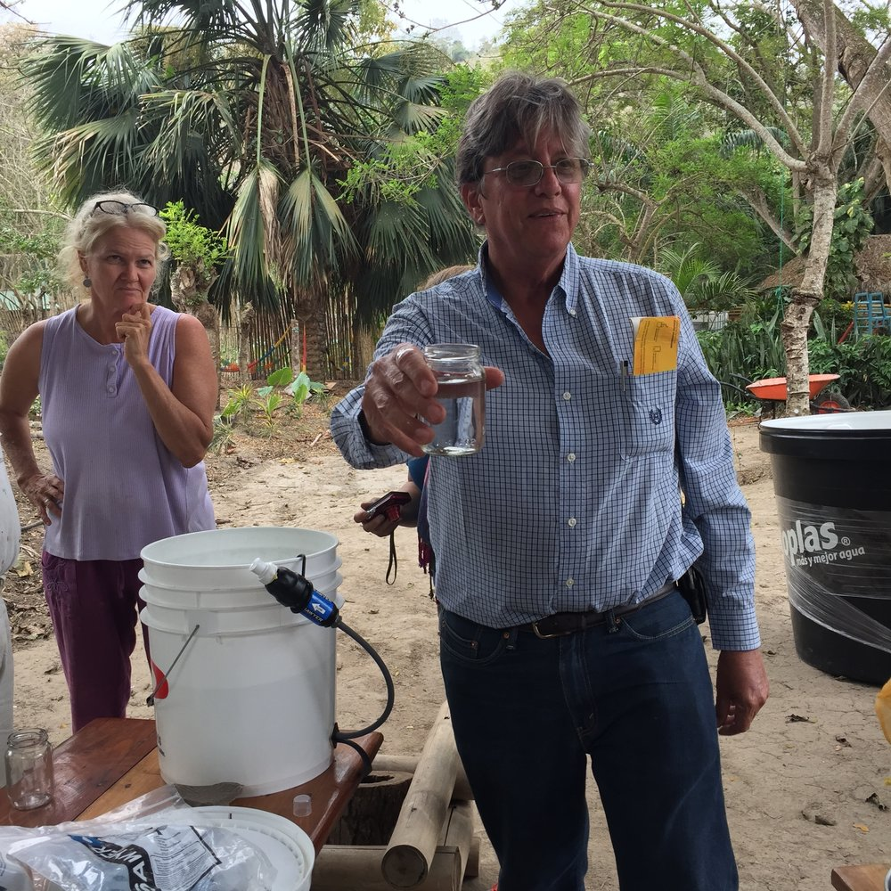 Water Filter Distribution -  RIO MUCHACHOWe partnered with La Escuela Sathya Sai to help distribute donated water filters to areas where water systems had collapsed. *Past project