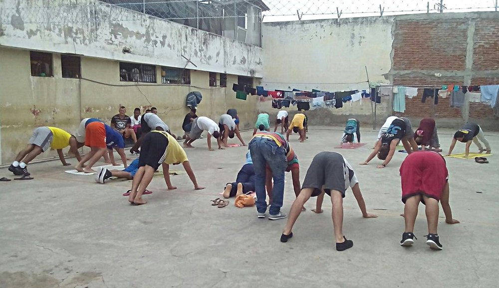 Yoga Workshops - Group yoga has proven to be a powerful outlet for tension during our sessions with the inmates of the local prison and a fun physical activity for all levels and ages in our communities. *Ongoing project