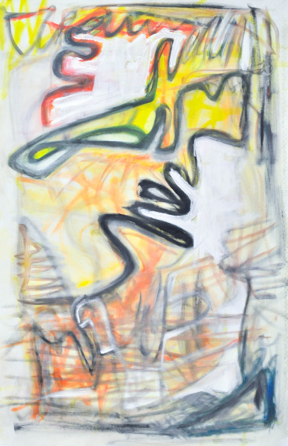 Birds of Paradise2  Oil on canvas.  42.75 X 27.75 unstretched. OR  Gallery wrap approx. 36 X 21 X 2 stretched on wood bars.