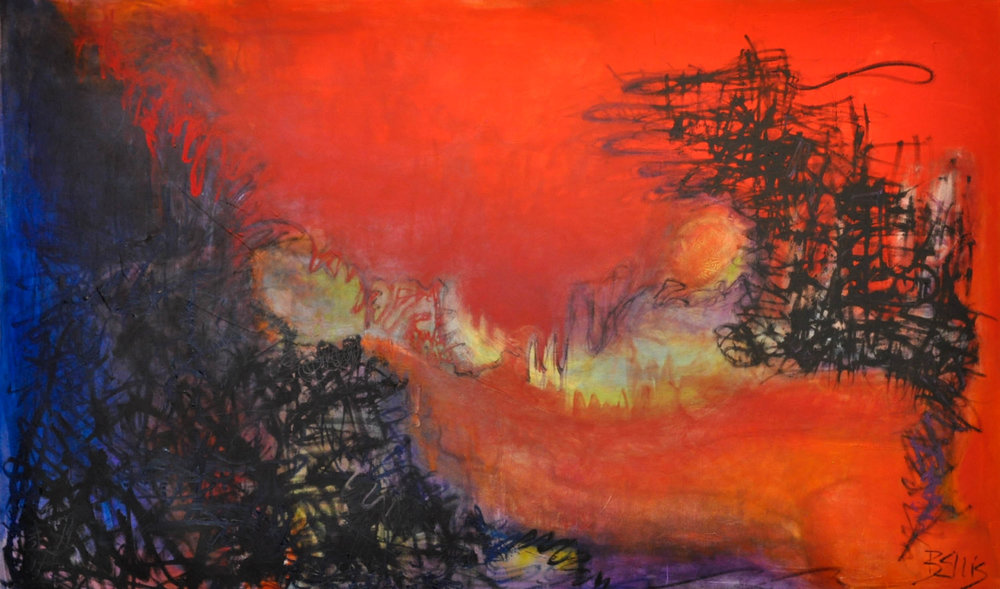 Divisive Season   Acrylic and oil on gallery wrap.42 X 70 X 1.5