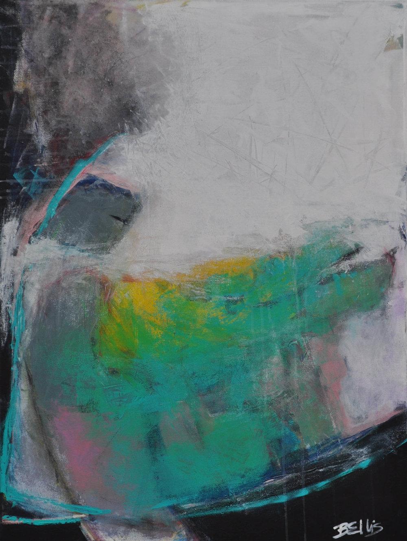Reach   Acrylic on gallery wrap. 40 X 30 X 1.5