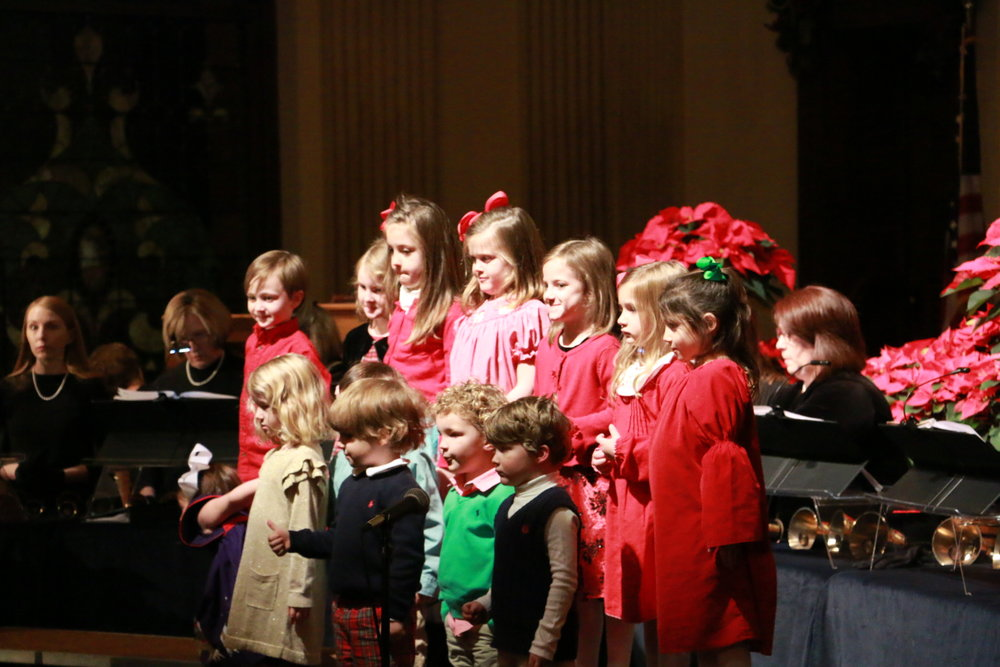 PRESCHOOL CHOIR - Our preschool choir is for ages 3-5. Mrs. Gena Davis directs this group and they meet at 6:00 p.m. on Wednesday nights in room 110. The children do crafts and exercises directed at learning music. They will sing periodically in worship and especially around the Christmas season.