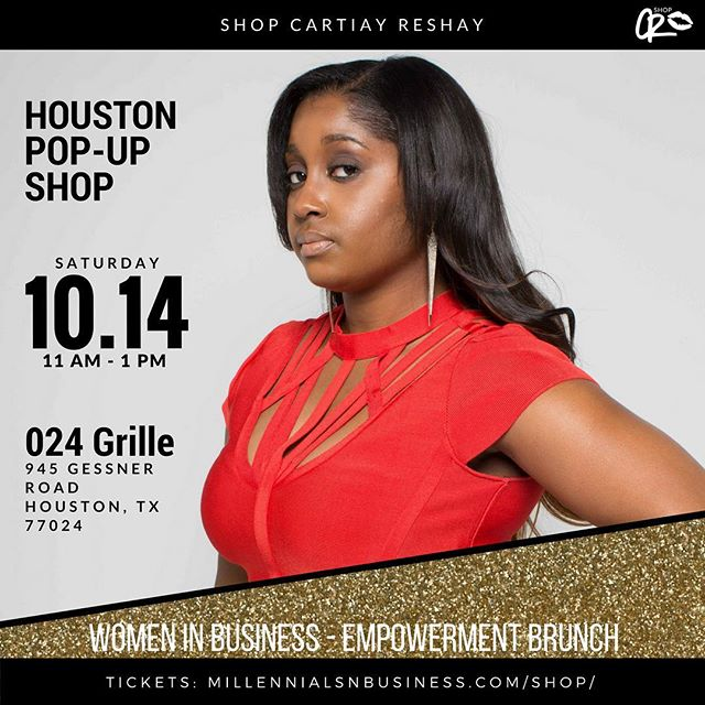 Ladies! Join me for a @shopcartiayreshay pop-up shop this Saturday at @orobosa_leads' @millennialsnbusiness Brunch at @024grille! Tickets available! xoxo