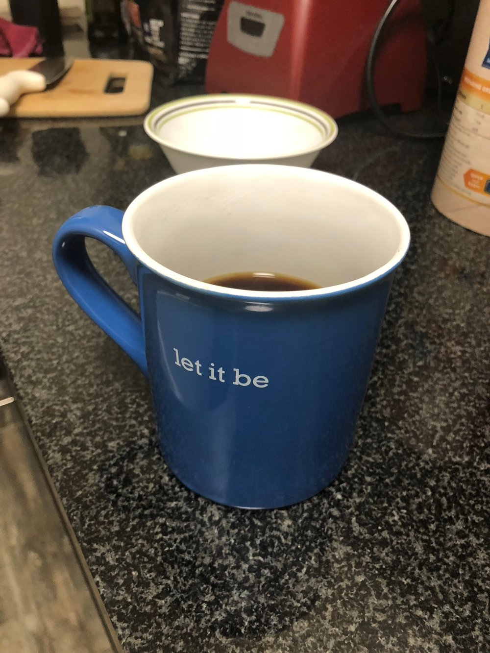 Black coffee. No sugar, no honey, no nothin'. I boil my water always, avoid the microwave like the plague people! Coffee comes second. Usually paired with my breakfast which is: