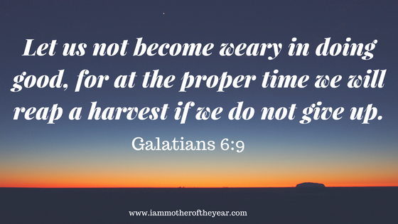Let us not become weary in doing good, for at the proper time we will reap a harvest if we do not give up..png